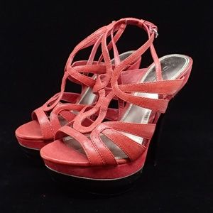 Bebe Red Stiletto Heels 6 - EUC